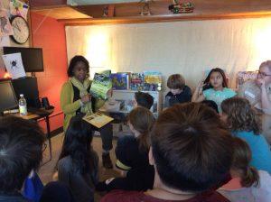 District Superintendent Bonnie Johnson-Aten Reads to SA Children