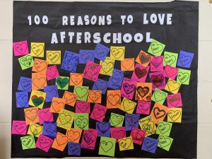 Collage of 100 reasons to love afterschool.