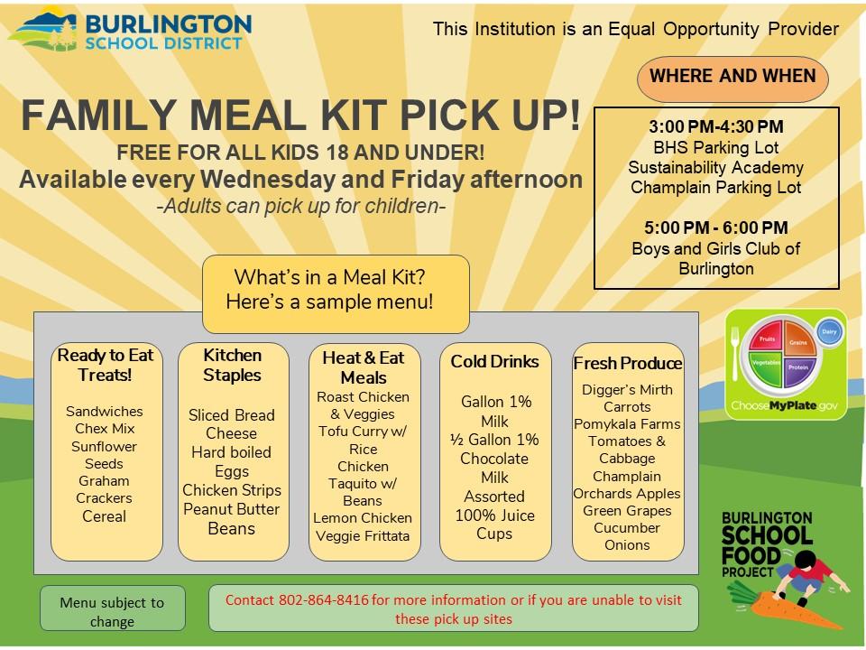 October Week 1 Flier-Meal Kit Pick up Locations